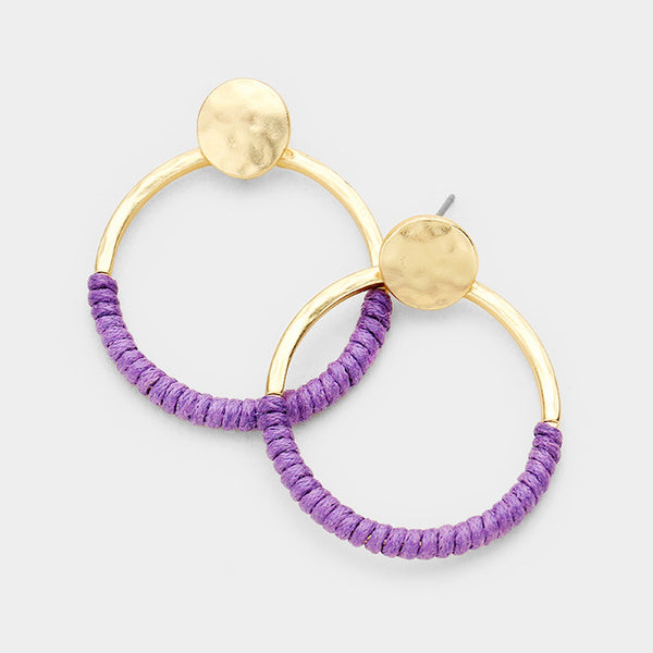 Shani Cord Hoop Earrings