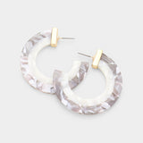 Adisa Acetate Hoop Earrings