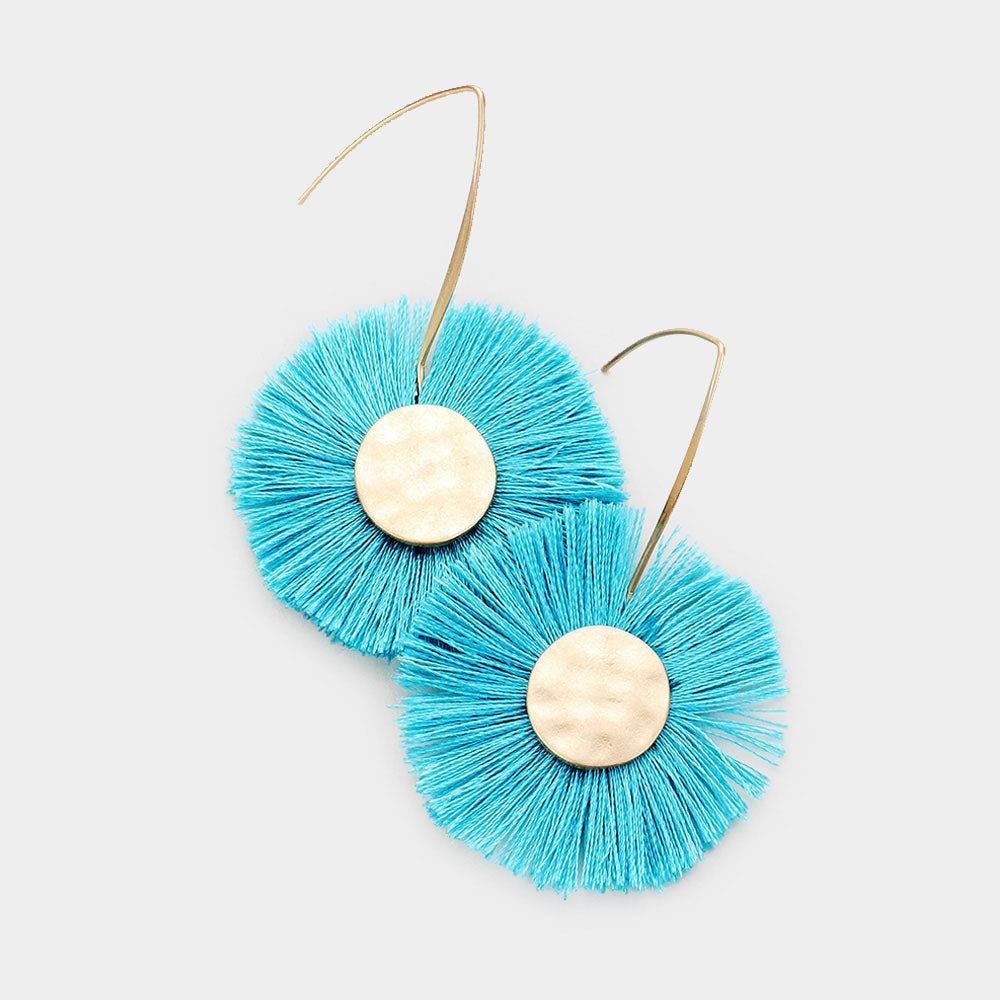 Nyah Hammered Tassel Earrings