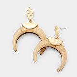 Crescent Horn Earrings