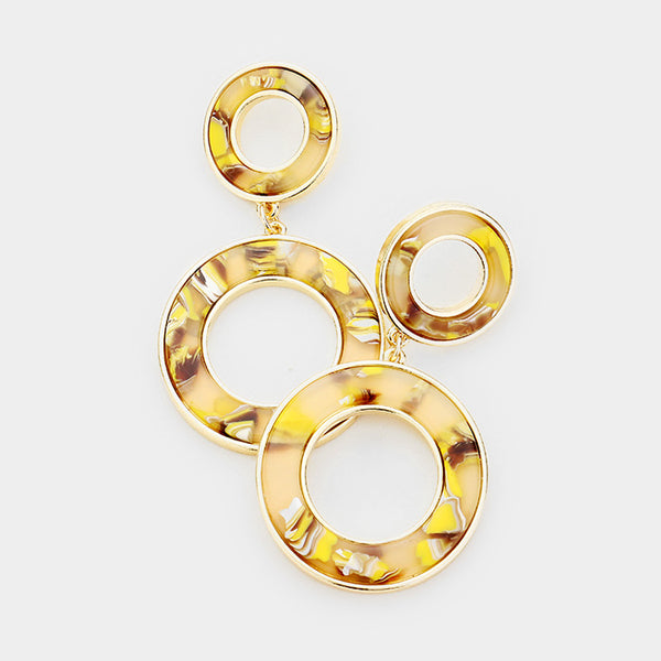 Chelsea Acetate Circle Earrings
