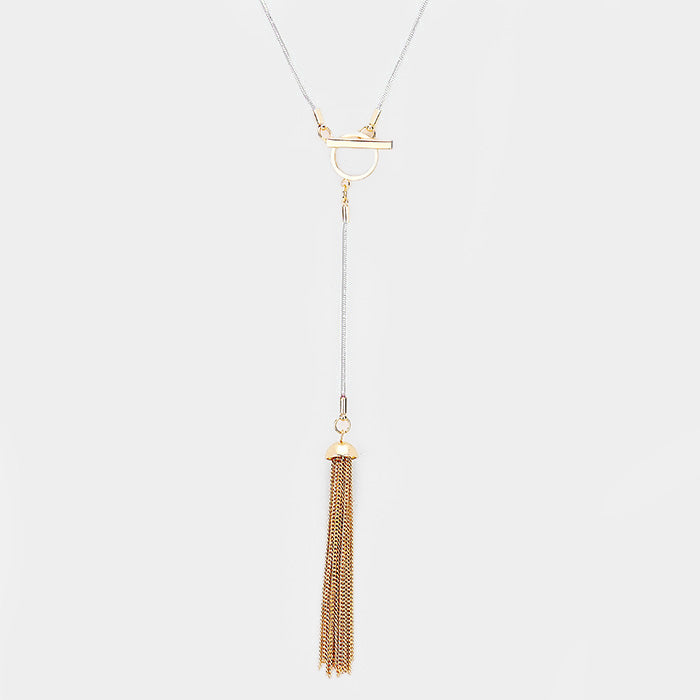 Tia Tassel Chain Necklace