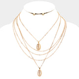 Cowrie Shell Layered Necklace Set