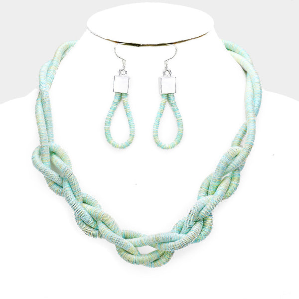 Silk Cord Necklace Set