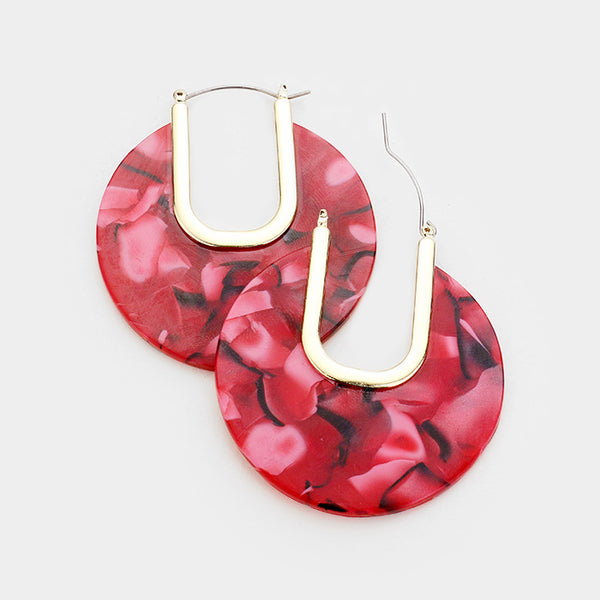 Cut Out Acetate Circle Earrings