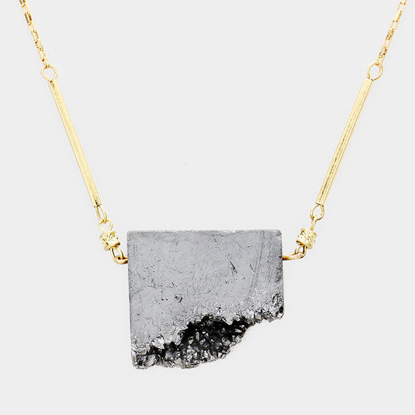 Genuine Druzy Stone Necklace