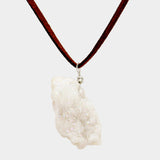 White Natural Druzy Stone Necklace