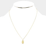 14k Gold Dipped Saint Mary Necklace