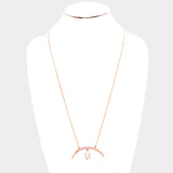 Crescent Horn Pearl Necklace
