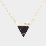 Natural Howlite Triangle Necklace
