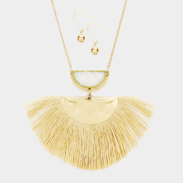 Ife Tassel Necklace Set