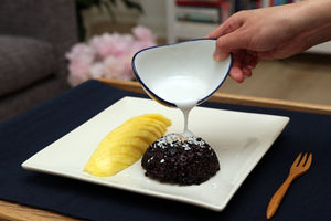 Black Rice Pudding with Summer Fruits