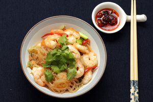 Mung Bean Vermicelli with Prawns