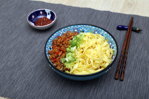 Chilli Mince with Vegetable Noodles