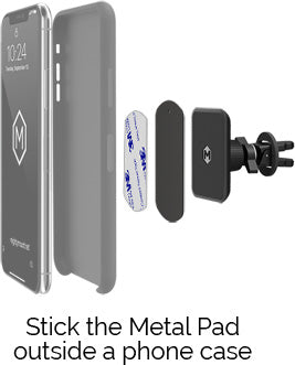 Stick the Metal Pad outside a phone case
