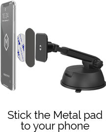 Stick the Metal pad to your phone
