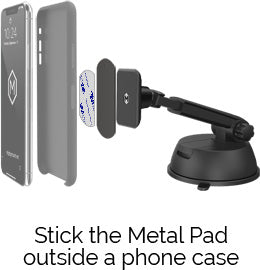 Stick the Metal pad outside your phone