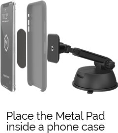 Place the Metal pad inside a phone case