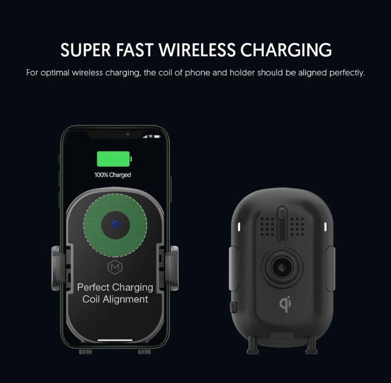Automatic Grip Fast Wireless Car Charger Dash & Vent Mount