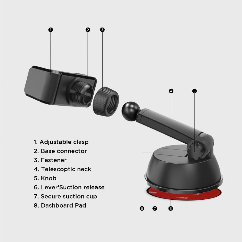 Dash & Windshield Car Phone Mount
