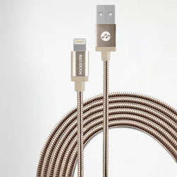 Pet Friendly Metal Tangle Free Braided Lightning Cable Rose Gold - 1.2 Meter