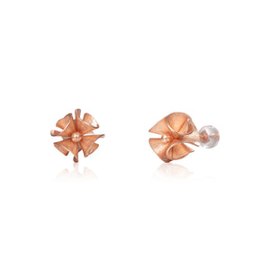 "繡球花 ""玫瑰金"" 耳環 - Spring Bloom ""Rose Gold"" Earrings - GINYU 今鈺"