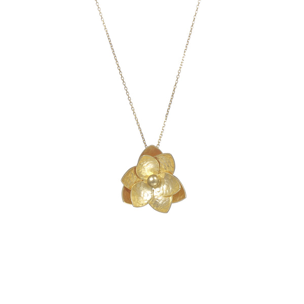 "荷花 ""純金"" 項鍊 - Summer Dream ""Solid Gold"" Necklace"