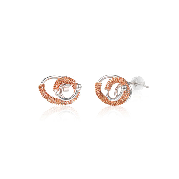 "循環 ""玫瑰金"" 耳環 - Loop ""Rose Gold"" Earrings"