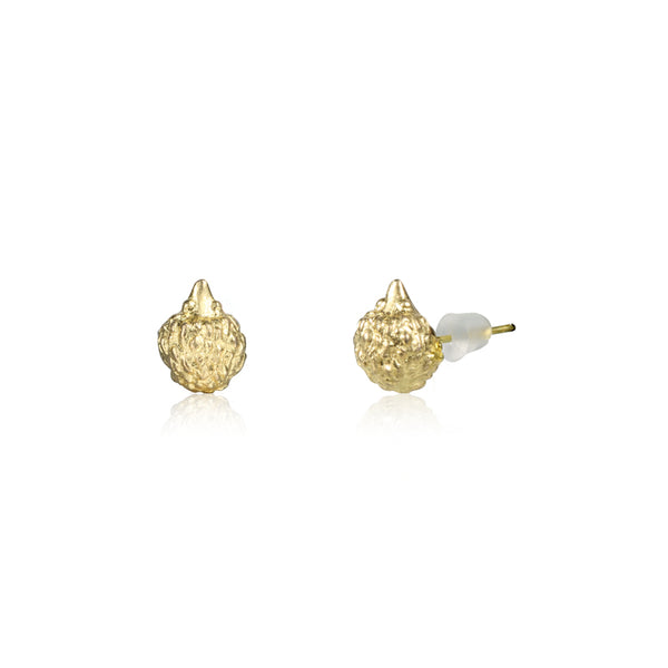 "心腹刺客 ""18K 金"" 耳環 - A Hedgehog's Hug ""18K Gold"" Earrings"