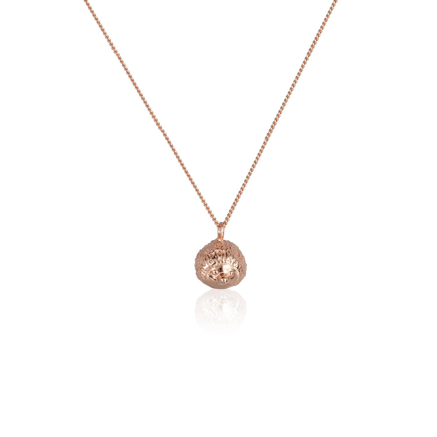 "心腹刺客 ""玫瑰金"" 項鍊 - A Hedgehog's Hug ""Rose Gold"" Necklace"