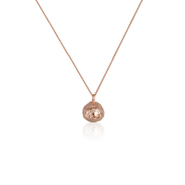 "心腹刺客 ""玫瑰金"" 項鍊 - A Hedgehog's Hug ""Rose Gold"" Necklace - GINYU 今鈺"