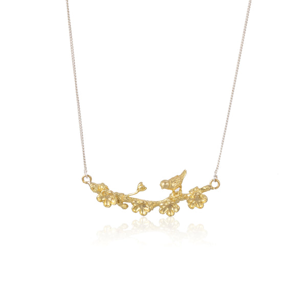 "梅花 ""金"" 項鍊 - Winter Sonnet ""Gold"" Necklace - GINYU 今鈺"