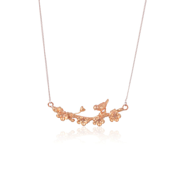 "梅花 ""玫瑰金"" 項鍊 - Winter Sonnet ""Rose Gold"" Necklace - GINYU 今鈺"