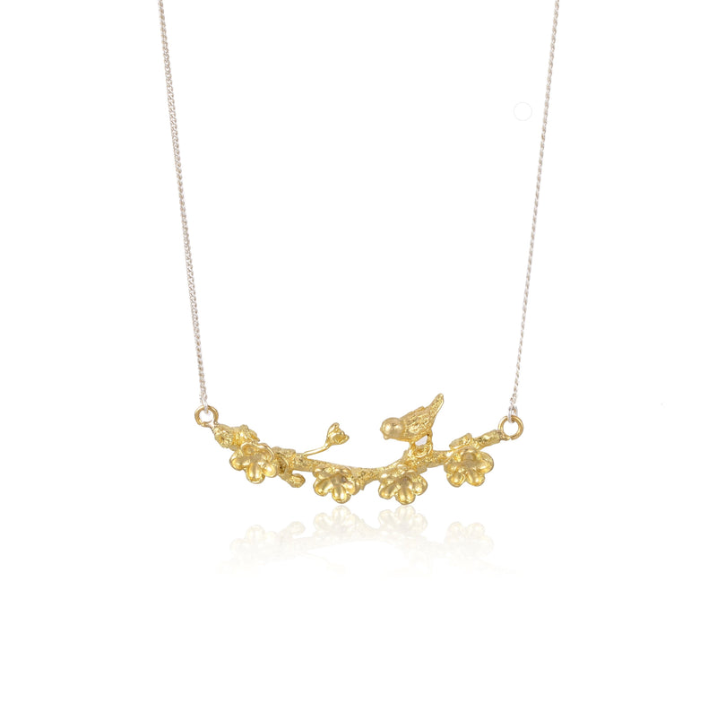"梅花 ""純金"" 項鍊 - Winter Sonnet ""Solid Gold"" Necklace - GINYU 今鈺"