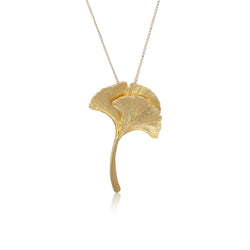 "銀杏葉 ""18K金"" 項鍊 - Autumn Reverie ""18K Gold"" Necklace"