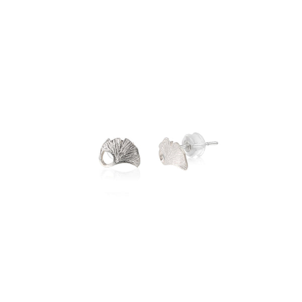 "銀杏葉 ""銀"" 耳環 - Autumn Reverie ""Silver"" Earrings"