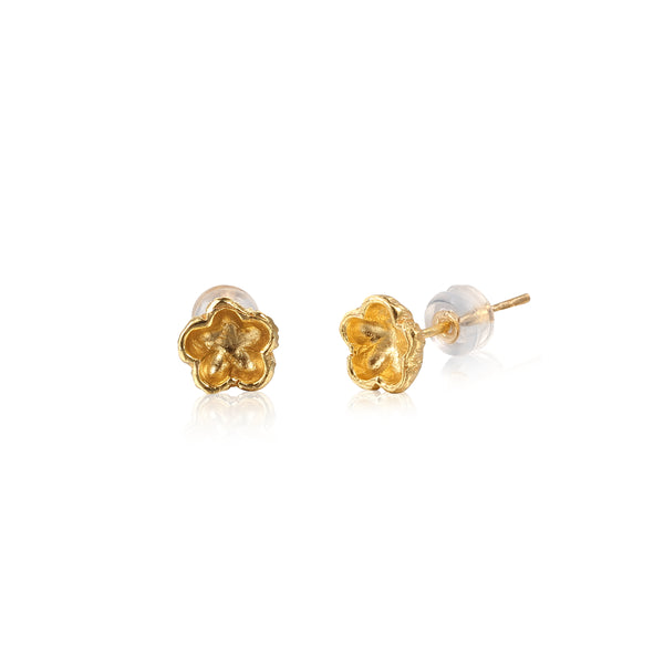 "梅花 ""金"" 耳環 - Winter Sonnet ""Gold"" Earrings - GINYU 今鈺"
