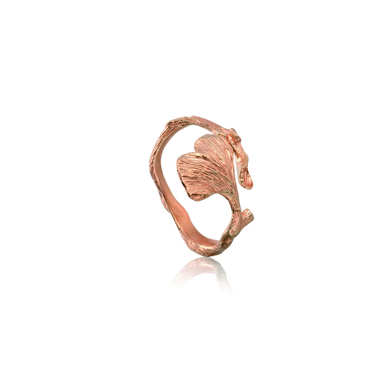 "銀杏葉 ""玫瑰金"" 戒指 - Autumn Reverie ""Rose Gold"" Ring"