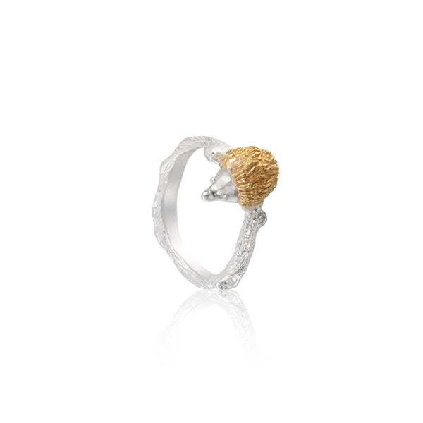 "心腹刺客 ""金+銀"" 戒指 - A Hedgehog's Hug ""Gold+Silver"" Ring"