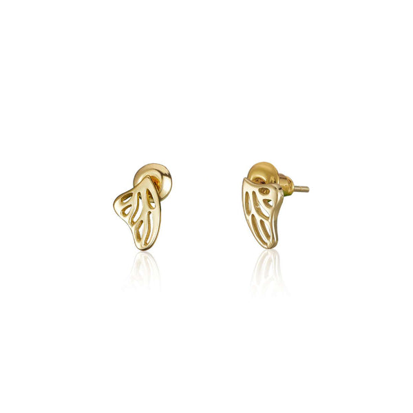 "化蝶飛吻 ""金"" 耳環 - A Butterfly's Kiss ""Gold"" Earrings - GINYU 今鈺"