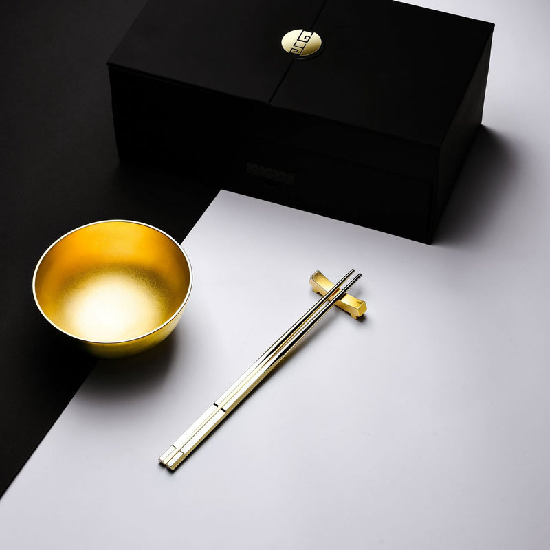 "金玉滿堂 ""金"" 碗筷  - The Family ""24K Gold"" Bowl - GINYU 今鈺"