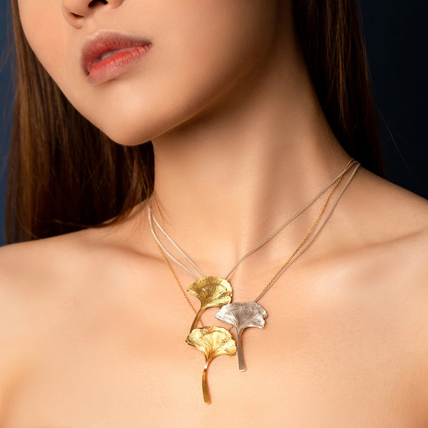 "銀杏葉 ""金"" 項鍊 - Autumn Reverie ""Gold"" Necklace - GINYU 今鈺"