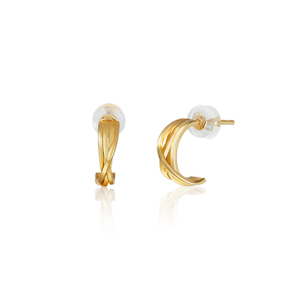 "相環 ""18K 金"" 耳環 - Lync ""18K Gold"" Earrings"
