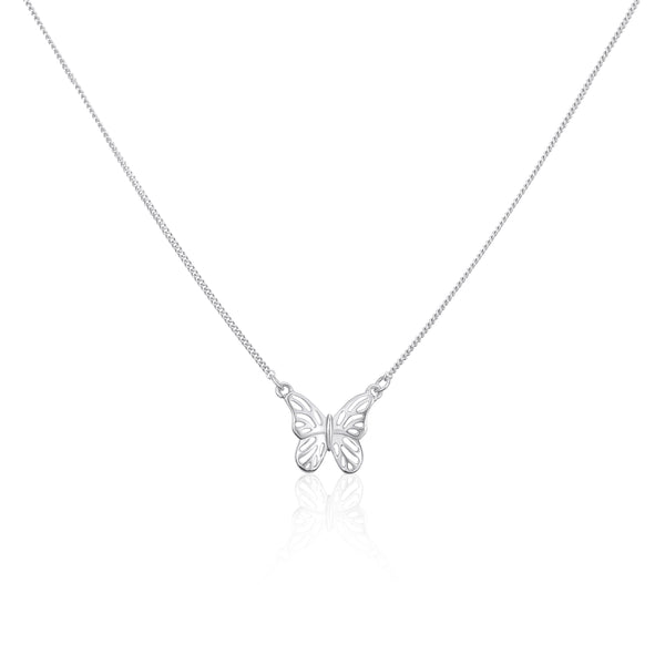 "化蝶飛吻 ""銀"" 項鍊 - A Butterfly's Kiss ""Silver"" Necklace - GINYU 今鈺"
