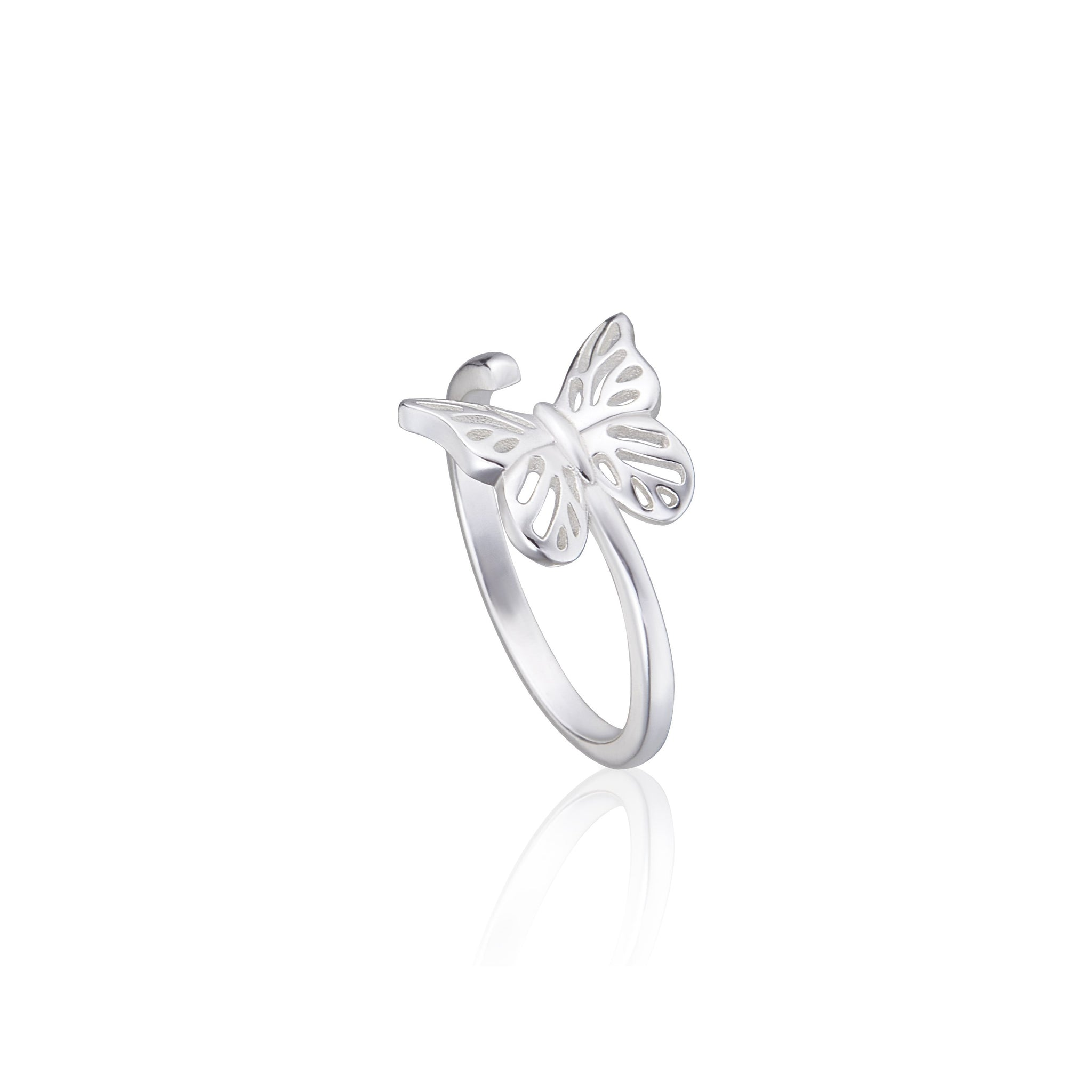 "化蝶飛吻 ""銀"" 戒指 - A Butterfly's Kiss ""Silver"" Ring"