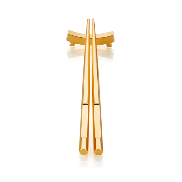 "金玉滿堂 ""金"" 筷  - The Family ""Gold"" Chopsticks Set"