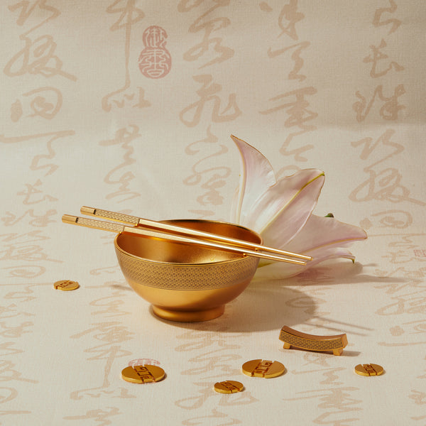 "一脈相承 ""金"" 筷  - The Legacy ""Gold"" Chopsticks Set - GINYU 今鈺"