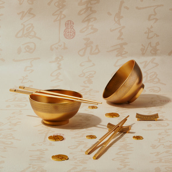 "一脈相承 ""金"" 碗筷  - The Legacy""Gold"" Bowl Set - GINYU 今鈺"