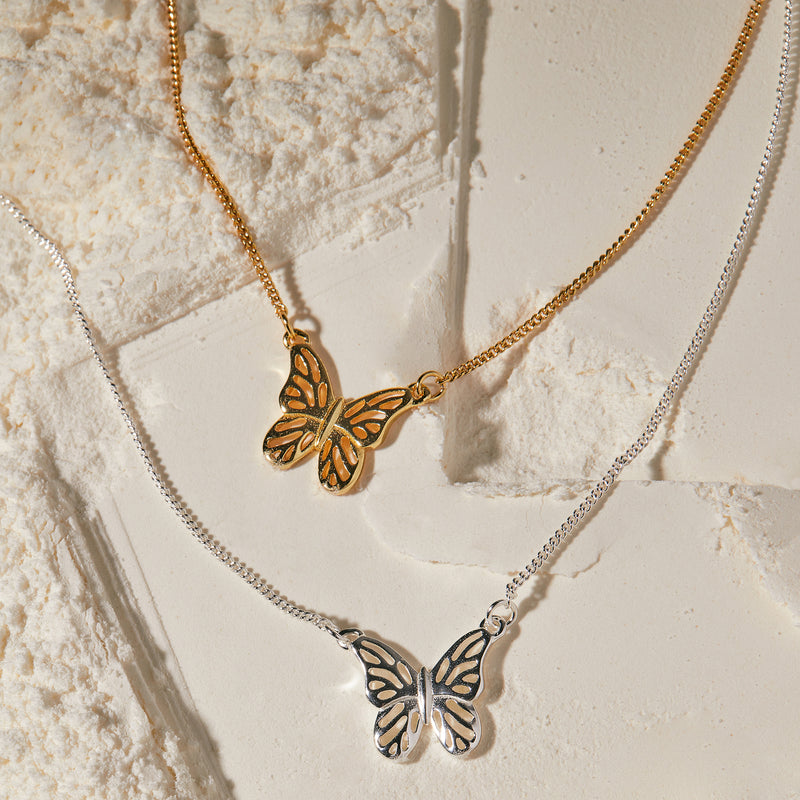 "化蝶飛吻 ""金"" 項鍊 - A Butterfly's Kiss ""Gold"" Necklace - GINYU 今鈺"