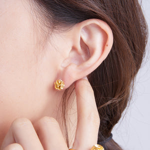 "繡球花 ""金"" 耳環 - Spring Bloom ""Gold"" Earrings"